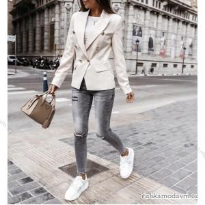 Sako elegantní dlouhý rukáv na knoflíčky dámské (S-XL) ITALSKÁ MÓDA IMWD211052