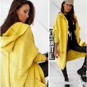 Cardigan pletený teplý dlouhý rukáv dámský (UNI S/L) ITALSKÁ MÓDA IMWL200031