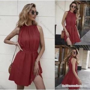 Šaty letní bez rukávů dámské (S/M ONE SIZE) ITALSKÁ MÓDA IMM211246