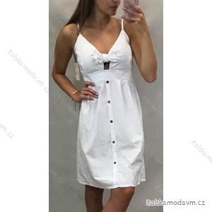 Šaty krátké na ramínka dámské s knoflíky (uni s/m) ITALSKá MóDA IM919655