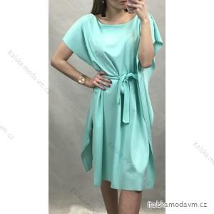 Šaty motýlkové elegantní s páskem netopýří rukáv dámské (UNI S-L) ITALSKÁ MÓDA IM420166