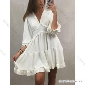 Šaty elegantní společenké dámské dlouhý rukáv (uni s/m) ITALSKá MÓDA IMT19599