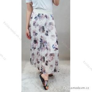 Sukně dlouhá elegantní skládaná dámská (UNI S-L) ITALSKÁ MÓDA IMC20180