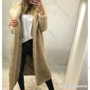 Kabát kožíšek Teddy dlouhý rukáv dámský (UNI S/L) ITALSKÁ MÓDA IMM201662