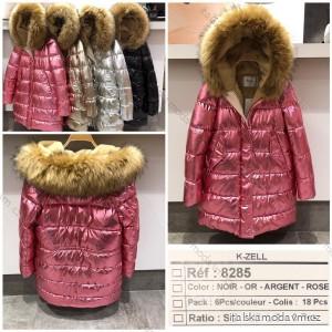Kabát bunda zimní s kapucí kožíšek dámská (s-m-l) KZELL MODA KZE208285
