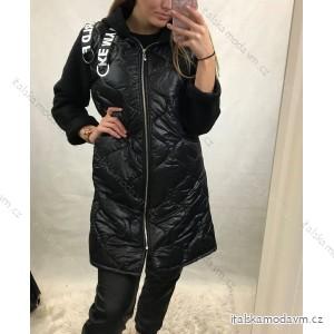 Bunda/kabát teplá zimní s kapucí dámská (S/M/L ONE SIZE) ITALSKÁ MÓDA IM4201417