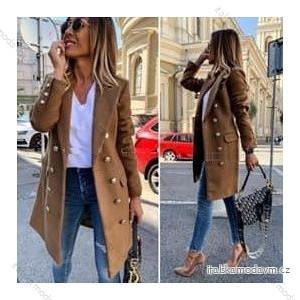 Kabát na knoflíčky dámský (S-2XL) ITALSKÁ MÓDA IMD20707/1KS