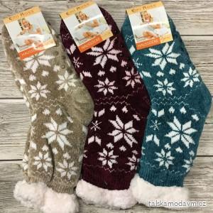 Ponožky vánoční zateplené bavlnou s beránkem dámské  (35-38,39-42) LOOKEN LOK20ej-2752B